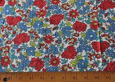"Genuine Vintage Old Cotton Floral Feedsack Fabric Material~16""L X 21""W"