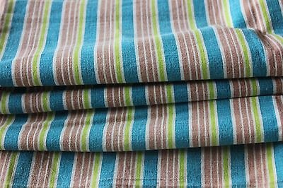 "Bright Striped Genuine Cotton Vintage Feedsack Fabric Material~34""L  X37""W"