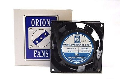 New! Orion OA825AP-11-3 TB 110/120VAC 50/60HZ Quick Connect Terminal Cooling Fan