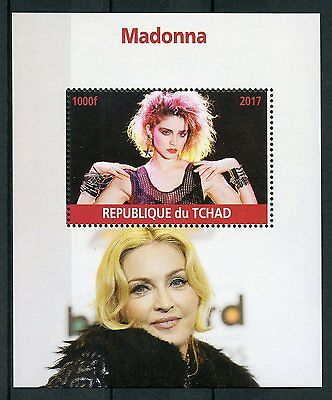 Chad 2017 MNH Madonna 1v M/S Pop Stars Music Celebrities Stamps