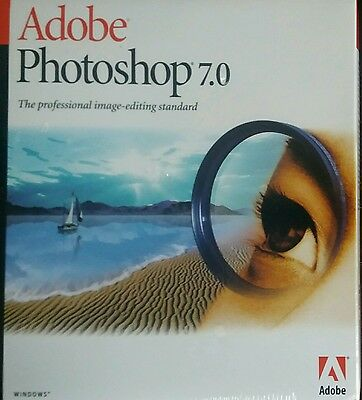Adobe Photoshop 7.0 brand new sealed retail WinXP/7/Vista/8 genuine