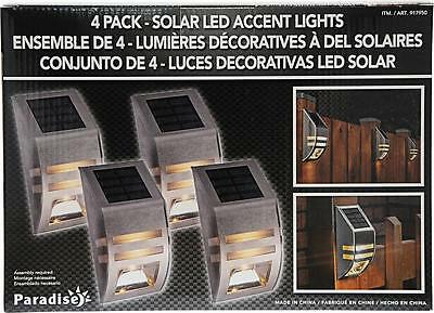Paradise 4 pack solar powered led accent lights stainless steel paradise 4 pack solar powered led accent lights stainless steel security outdoor mozeypictures Image collections