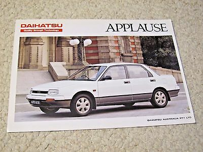 1980's AUSTRALIAN DAIHATSU APPLAUSE SALES BROCHURE