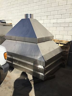 4 Heavy Duty Stainless Steel Hoods for Commercial Kitchen