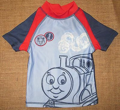 Baby Boys Thomas The Tank Rashie Top Swimsuit Bather Swimwear Toddler Sz 1 2 NEW