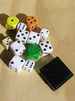 12 gaming dice and board tape measure