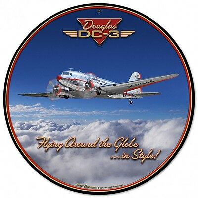 3-D Douglas DC-3 Metal Sign Hand Made in the USA with American Steel