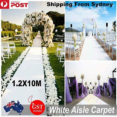1.2M x 10M  White Carpet Aisle Runner Wedding Party Event Decoration Mats Rugs