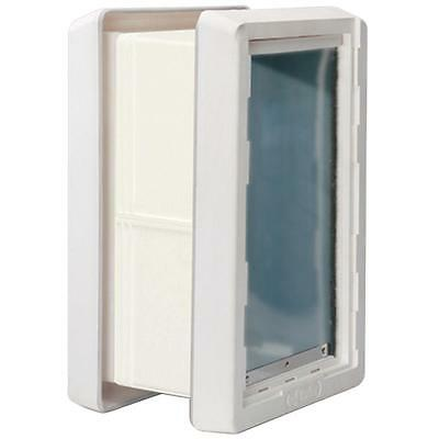 Pet Door Wall Mount Extra Large All Weather Frame Dual Magnetic Flap Closure