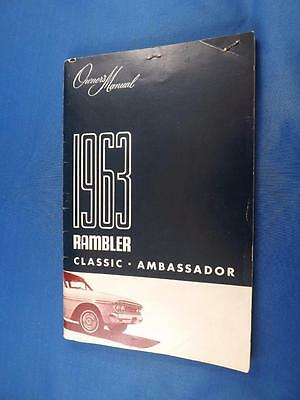 1963 Rambler Classic Ambassador Owners Manual Car Tire Guarantee Inspection