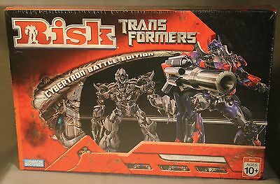 NEW Transformers Risk Board Game CYBERTRON BATTLE Sealed Parker Brothers !