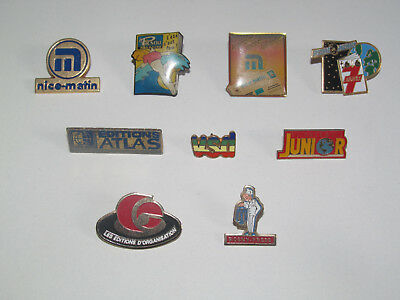 Pin's Publicitaire Collection Metal + Attache Presse Magazine Modèle au choix