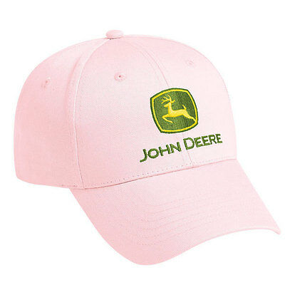 JOHN DEERE *LADIES* PINK Embroidered CAP HAT *BRAND NEW!*