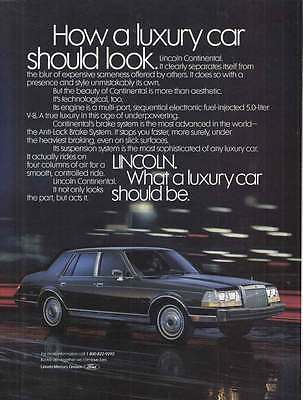 1987 Lincoln Continental: Luxury Car Should Look (14482)