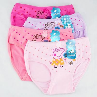 Lot Of 3Pc Random Colors Of Pink And Purple Peppa Pig Panties Size 3 4 5 6 7 8 9