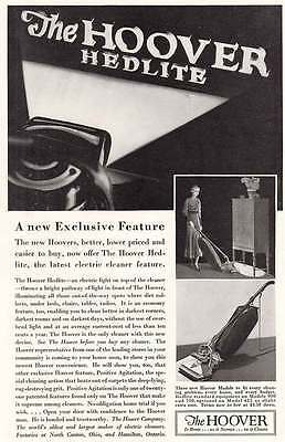 1933 Hoover Hedlite: Electric Cleaner Feature (6236)