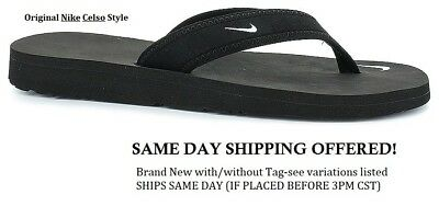 8b21ce3038a SHIPS TODAY! NEW Original Nike Celso Thong Black Flip Flop Sandals ...