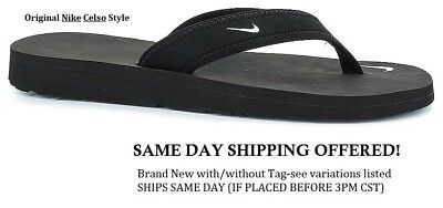 Special!!! Ships Today! New Nike Celso Thong Black Flip Flop Women Sz 6,7,8,9,10
