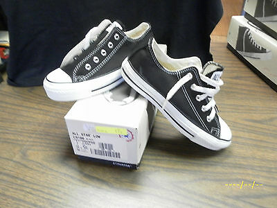 Vintage Converse Chuck Taylor All Star MADE IN THE USA. SIZE 1.5Y BLACK