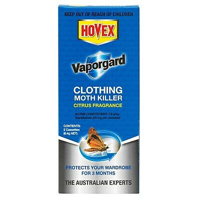 Hovex Vaporgard Clothing Moth Killer Protects Wardrobe For 3 Months