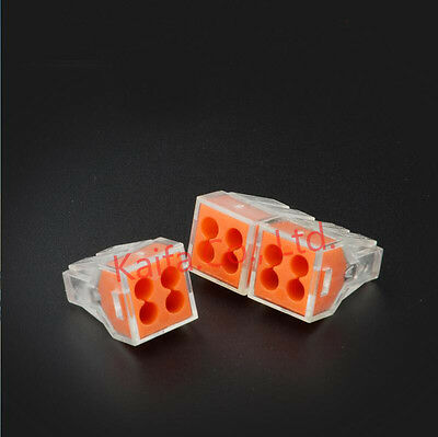20pcs 773-104(PCT-104) Universal Compact Wire Connector 4 pin Conductor Terminal