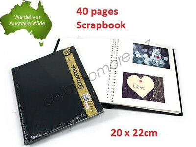 Black Cover Scrapbook DIY Photo Album Wedding Book Hardcover Craft NEW