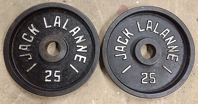Vintage Jack Lalanne Pair of Olympic 25lb Weight Plates - Deep Dish - RARE!!!
