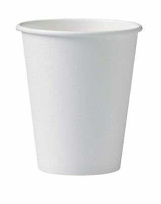 8oz White Paper Cups (Qty 1000) Takeaway Disposable cups
