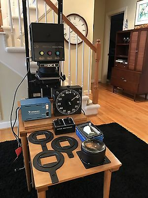 Beseler 23c ii w/ Dichro dga Color Head Enlarger Set & Light Table MUST SEE