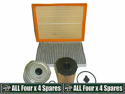 Air Oil Fuel Pollen Filter Kit Discovery 3 Range Rover Sport 2.7L TDV6 2007 On
