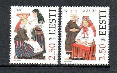 Estonia Mnh 1996 Sg274-275 Costumes (3Rd Series)
