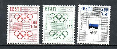 Estonia Mnh 1992 Sg176-178 Olympic Games - Barcelona
