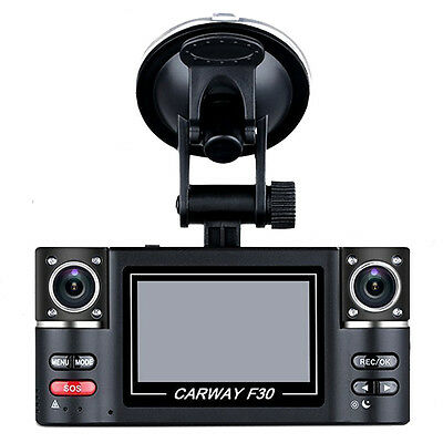 "AF 2.7"" TFT LCD HD 1080P Dual Camera Rotated lens Car DVR Vehicle Digital Video"
