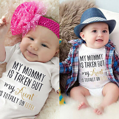 Newborn Infant Baby Girl Boy Clothes Babygrow Romper Jumpsuit Playsuit Outfit WO