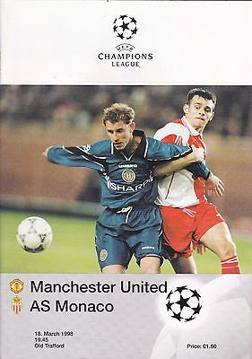 MANCHESTER UNITED v AS MONACO ~ CHAMPIONS LEAGUE ~ 18 MARCH 1998 (2)