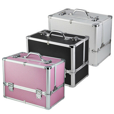 Extra Large Vanity Case Beauty Box Make up Jewelry Cosmetic Nail Storage