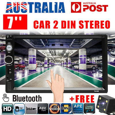 7'' 2 DIN TFT HD Touch screen Head Unit Car Stereo MP5 Player Radio + Free Cam