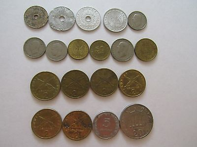 Lot of 19 Different Old Greece Coins - 1954 to 1986 - Circulated