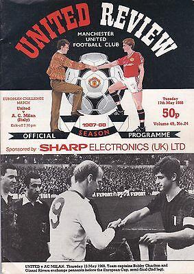 MANCHESTER UNITED v A C MILAN ~ EUROPEAN CHALLENGE MATCH ~ 17 MAY 1988 (2)