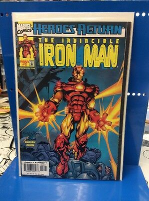 Heroes Return The Invincible Iron Man #2 Marvel Comics 1998 2nd Variant Cover