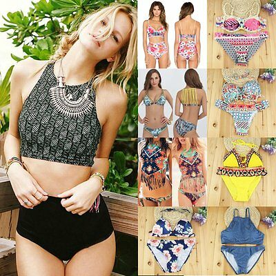 Women Swimwear Push-up Padded Bra Bandage Bikini Swimsuit Beachwear Bathing Suit