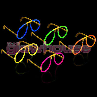 50x Glow Glasses - Glow Stick Bright Neon Glasses Parties Individually Wrapped