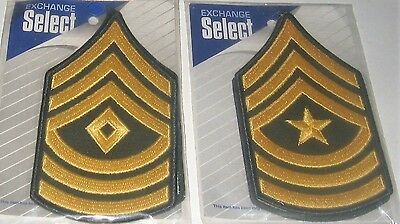 US Army Rank Insignia Large Patch First Sergeant Sergeant Major