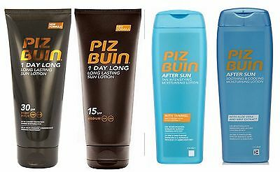 Piz Buin 1 Day Long Suntan Lotion or Aftersun 200ml each - choose 1