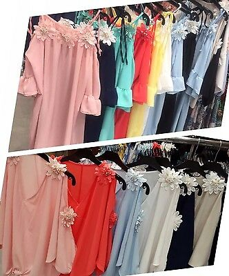 Wholesale Joblot Ladies Beautiful Summer Flower Dresses Tops 2 Styles 12 Pcs Mix