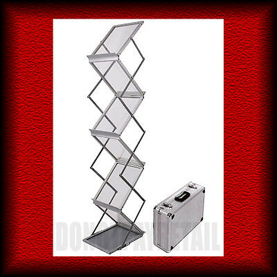 Portable A4 Z-Shaped Brochure/catalogue Stand/rack/holder/display Concertina