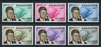 Rwanda 1965 MNH John F Kennedy JFK 6v Set US Presidents Stamps
