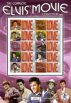 The Complete Elvis Presley Movie Collection Collectible Stamp Sheet BC-037