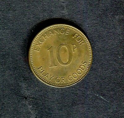 c1980s 10p Brass Token: Medallion