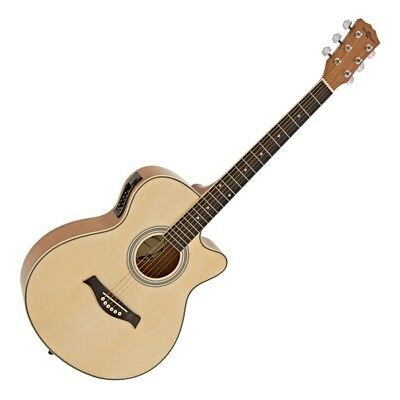 Single Cutaway Electro Acoustic Guitar by Gear4music